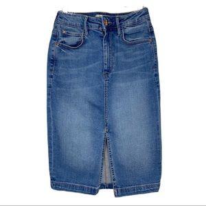 Guess Denim Jean Pencil Skirt Sz 4